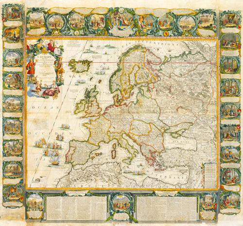 L'Europe Historique et Le Theatre des Actions Heroiques de Louis Le Grand 1775 by Jean Baptiste Nolin