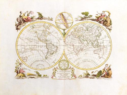 Il Mappa Mondo 1774 by Antonio Zatta