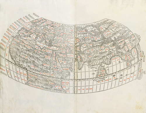 World Map 1511 by Ptolemy Claudius Ptolemaeus of Alexandriac
