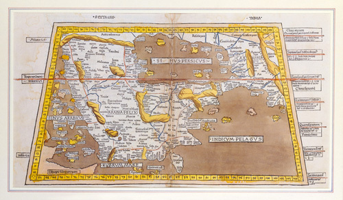 Sexta Asiae Tabula 1482 by Ptolemy Claudius Ptolemaeus of Alexandriac