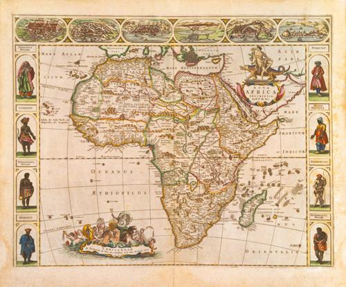 Nova Africa Descriptio 1670 by Frederick de Wit