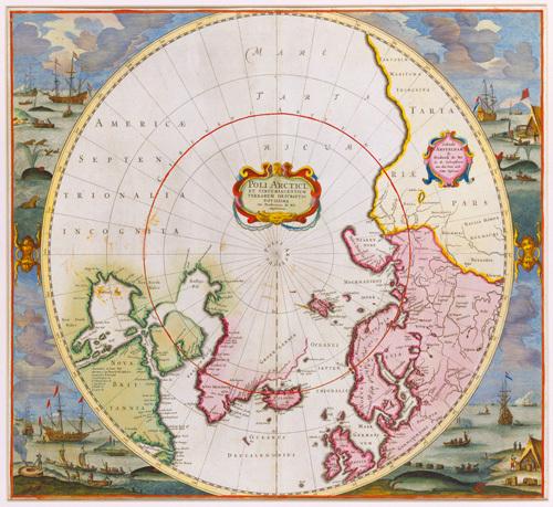 Poli Arctici 1675 by Frederick de Wit