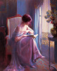 Young Woman Reading by a Window by Delfin Enjolras
