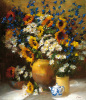 Sunflowers and Teapot by Frank Janca