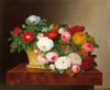 Still Life of Roses in a Basket by Jodi Jensen