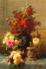 Still Life Of Roses And Other Flowers (small) by Jean-Baptiste Robie