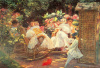 Ladies in a Garden by Jose Villegas y Cordero