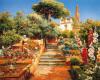 A Flower Garden by Manuel y Rodriguez Garcia
