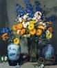 Calendulas and Chinese Vase by Pat Moran