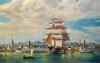 Ocean Monarch' Leaving New York by Roy Cross