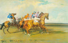 Under Starter's Orders, Newmarket Start by Sir Alfred Munnings