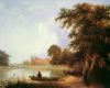 Fishing on the River Thames Near Eton College by F. Creswick