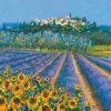 Hill Town, Provence by Hazel Barker