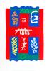 Composition croix rouge (Silkscreen print) by Henri Matisse