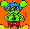 Andy Mouse IV (1986) by Keith Haring