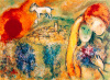 Lovers in Vence by Marc Chagall