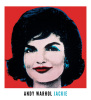 Jackie, 1964 (on red) by Andy Warhol