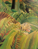 Detail from Tiger in Storm (Surprised I) by Henri Rousseau