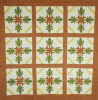 Pieced And Appliqued Cotton Coverlet by American School