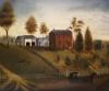 Farmstead Scene by American School