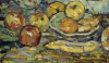 Still Life With Apples And A Bowl by Maurice Prendergast