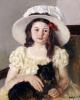 Francoise Holding A Little Black Dog by Mary Cassatt