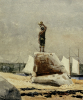 Boy Hailing Schooners by Winslow Homer