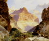 Under The Red Wall, Grand Canyon Of Arizona by Thomas Moran