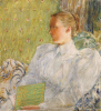 Portrait Of Edith Blaney (Mrs. Dwight Blaney), 1894. by Frederick Childe Hassam