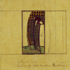 Design For Curtains For The Hall Windows, 1916 by Charles Rennie Mackintosh