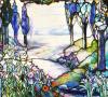 River Landscape Window by Tiffany Studios