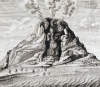 Engraving Of Vesuvius Erupting From 'Mundus Subterraneus' by Athanasius Kircher