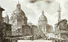 A View Of Rome With The Two Churches Of Santa Maria Di Loreto And The Church Of Our Lady by Giovanni Battista Piranesi