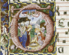 The Nativity, Illuminated Manuscript by Christie's Images