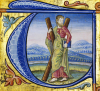 St. Andrew, Illuminated Manuscript Choirbook by Christie's Images