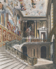 Grand Staircase, Hampton Court from 'The History Of The Royal Residences' by D. Havell