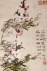 Willow And Peach Blossoms. Paper Leaf From An Album Of Flower, Bird And Insect Paintings by Li Shan