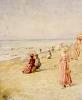 La Plage, Ostende by Alfred Sisley