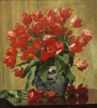 Tulips In A Porcelain Vase, 1915 by Peter Johan Schou