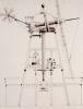 Drawings For Windmills. A Smock Mill, 1814 by John Farey Jun