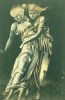 Study Of Dancing Figures Embracing: A Design For Metal by Sir Edward Burne-Jones