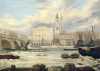 View Of The Adelaide Hotel With The Spire Of St. Magnus The Martyr by W. Fenoulhet
