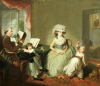 Mr. and Mrs.Hayward With Their Children Matilda And George by Sir William Beechey