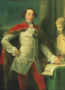 Portrait Of A Gentleman, Standing Three-Quarter Length, Wearing A White Waistcoat by Pompeo Batoni