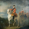 An Equestrian Portrait Of King George III, Wearing The Order Of The Garter by David Morier