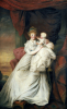 Portrait Of Eleanor, Countess Of Harborough, With Her Son Robert by Matthew William Peters