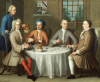 A Group Portrait Of Sir Thomas Sebright, Sir John Bland And Two Friends, 1723 by Benjamin Ferrers