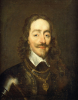 Portrait Of King Charles I, Bust Length, Wearing Armour And The Collar Of The Order Of The Garter by William Dobson