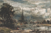 Salisbury Cathedral From Long Bridge Near Fisherton Mill by John Constable