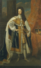 Portrait Of King William III (1650-1702), In State Robes, With The Crown by Sir Godfrey Kneller